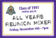 Class of '91 Class of 1991 - All Years Reunion Mixer