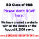Class of '88 VISIT www.bendavis1988.myevent.com for DETAILS