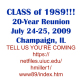 Class of '89 Date Set - 20 Year Reunion!!!!