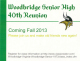 Class of '01 Woodbridge High School 15 year Reunion Sept 3rd